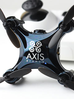 The Axis Vidius drone comes with a camera and fits in the palm of your hand
