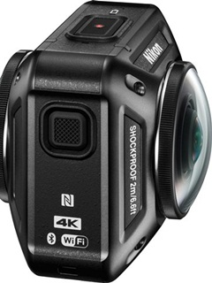 Nikon's first action camera, KeyMission 360 shoots 360-degree video in 4K