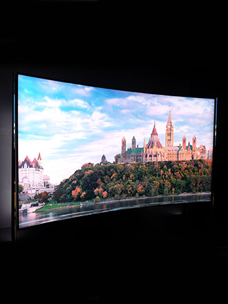 Check out the level of detail on Samsung's 98-inch curved 8K TV