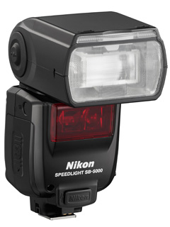 The Nikon SB-5000 Speedlight has a radio and can fire 120 continuous shots