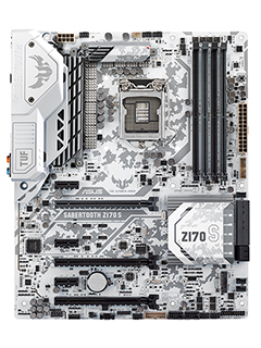 Winter is coming: ASUS announces arctic-themed TUF Sabertooth Z170 S board