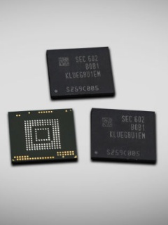 Samsung's new 256GB UFS 2.0 memory chip is smaller than a microSD card