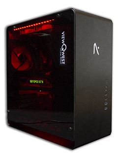 The Aftershock Boost is a custom PC that works with ViewQwest's new 10Gbps home fiber broadband service