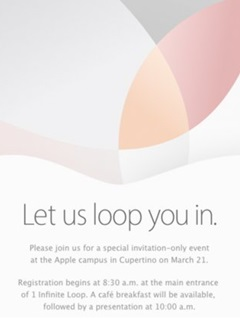 Apple sends out invite for 21st March event