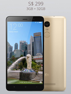 Xiaomi Redmi Note 3 will be available at S$299