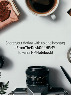 HP's #fromthedeskof campaign lets you see the work desks of Malaysian personalities