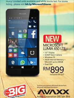 Microsoft Lumia 650 is available for RM899