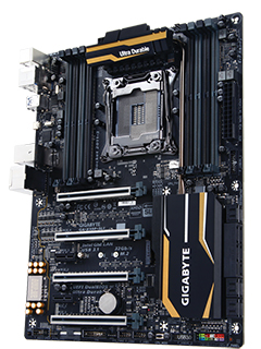 The Gigabyte X99P-SLI is the world's first Thunderbolt 3-certified Intel X99 motherboard