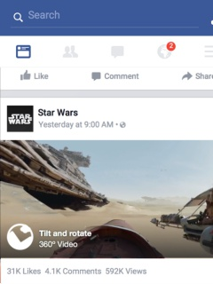 You can view and upload 360-degree photos on Facebook's News Feed soon