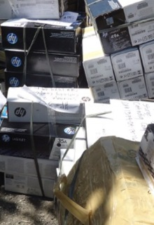 Hundreds of counterfeit print cartridges and components seized in Cebu
