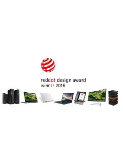 Acer wins 7 Red Dot Product Design Awards in 2016
