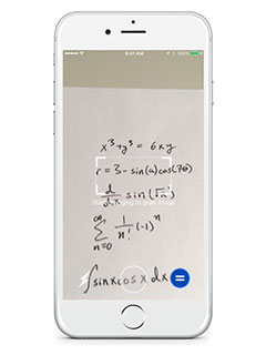Mathpix is an app that looks at an equation through your phone's camera and solves it