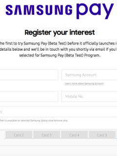 You can sign up for Samsung Pay Beta Test Program in Singapore now