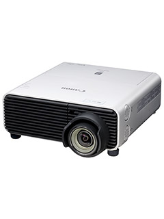 The Canon XEED WUX450ST LCOS projector has a short throw lens and supports vertical lens shift