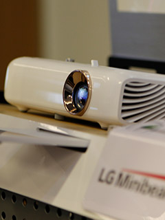 All of LG's 2016 Minibeam projectors come with Bluetooth and wireless mirroring support