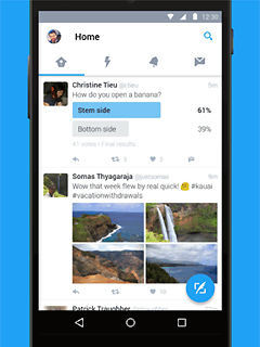 Twitter for Android has been given the Material Design treatment