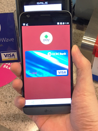 Android Pay launches in Singapore today!