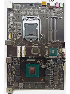 This motherboard has an integrated NVIDIA GeForce GTX 1070 GPU
