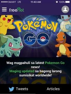 Enjoy Pokémon GO with freenet and PayMaya