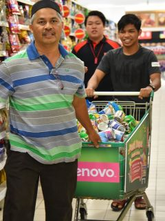 Lenovo Raya campaign ends with supermarket sweep