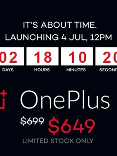 OnePlus 3 available on Lazada from 4th July with an exclusive price