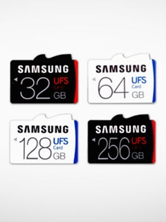 The world's first removable UFS memory cards are from Samsung