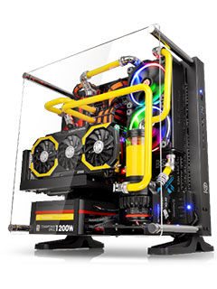 The Thermaltake Core P3 is a compact wall-mounted chassis that shows off your hardware