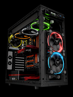 The Thermaltake Riing LED RGB radiator fans can be fully controlled with software