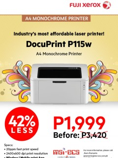 Fuji Xerox DocuPrint P115w now available at PhP 1,999