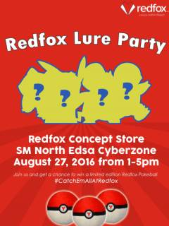Redfox to hold Lure Party on August 27 at SM North EDSA