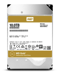 WD announces WD Gold 10TB datacenter hard drive