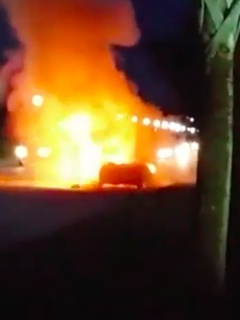 Another car caught fire after the Galaxy Note7 exploded while being charged