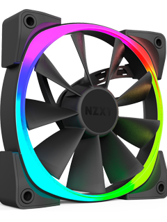 NZXT's Aer RGB case fans adds colors to your PC's casing