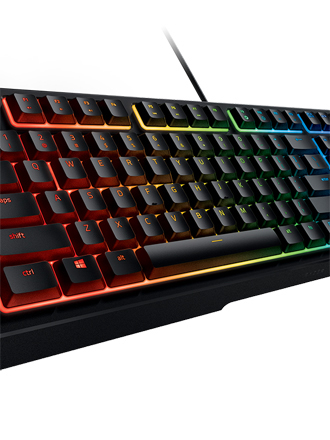 Razer's Ornata keyboard combines mechanical switches with membrane rubber domes