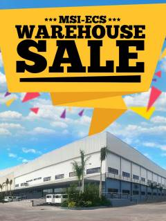 MSI-ECS to hold its annual Warehouse Sale on October 16
