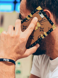 LV has a new iPhone case for those who love the maison's vintage travel trunks