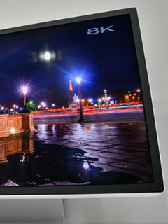 Sharp shows off a 27-inch 8K HDR IGZO monitor at CEATEC Japan