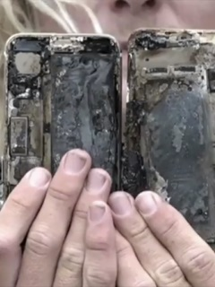 An iPhone 7 burnt itself along with an Australian man's car and pants