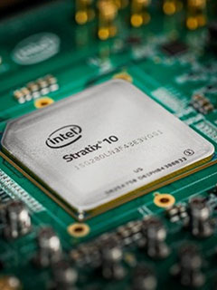 The Stratix 10 chip is the result of Intel's acquisition of Altera