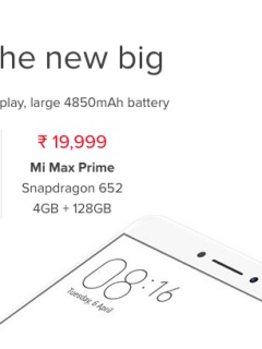 Xiaomi unveils Mi Max Prime with 4GB RAM and 128GB storage space