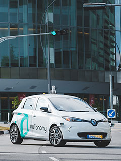 A nuTonomy self-driving taxi was just involved in a minor accident here