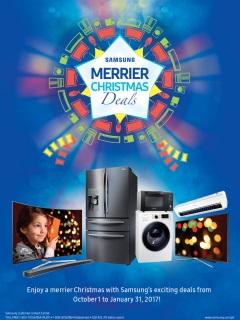 Samsung offers Christmas deals for Samsung TV and smart digital appliances