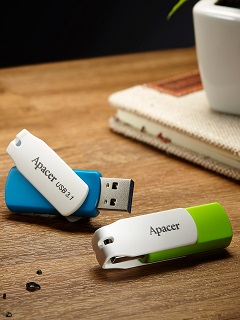 Apacer launches all-new swivel flash drives with up to 64GB capacity