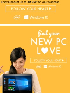 Microsoft and Intel wants you to get a new PC on Lazada