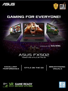 New ASUS FX502 gaming laptop is now available in PH, price starts at PhP 69,995