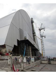 New giant radiation shield being installed at Chernobyl