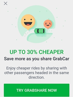 GrabShare launched in Singapore, expect cheaper carpool rides!