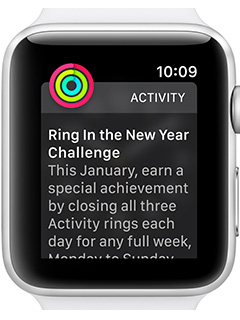 Apple challenges Apple Watch owners to earn special Achievement badge and stickers this new year