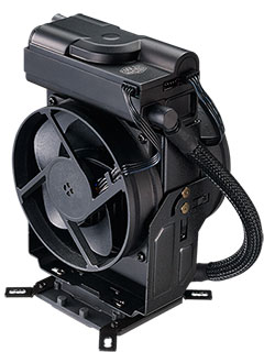 The Cooler Master MasterLiquid Maker 92 is an AIO liquid cooler that looks like an air cooler