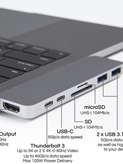 The HyperDrive USB hub will solve the 2016 MacBook Pro's port problems